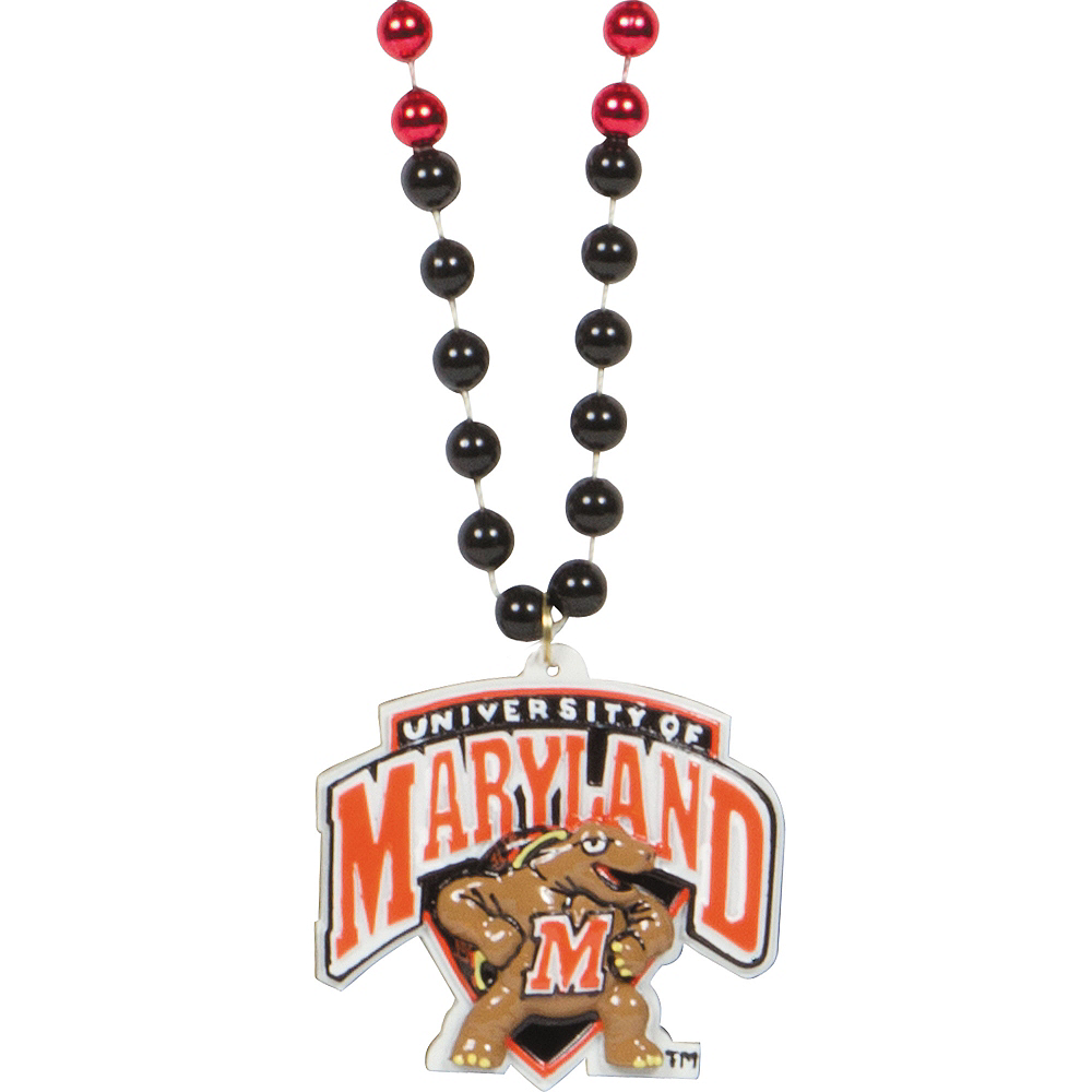 Maryland Terrapins Pendant Bead Necklace Image #1