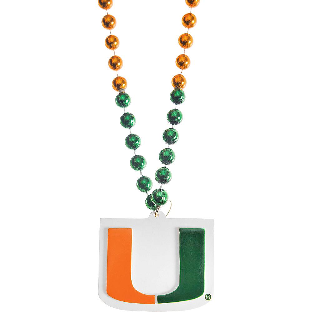 Miami Hurricanes Pendant Bead Necklace Image #1
