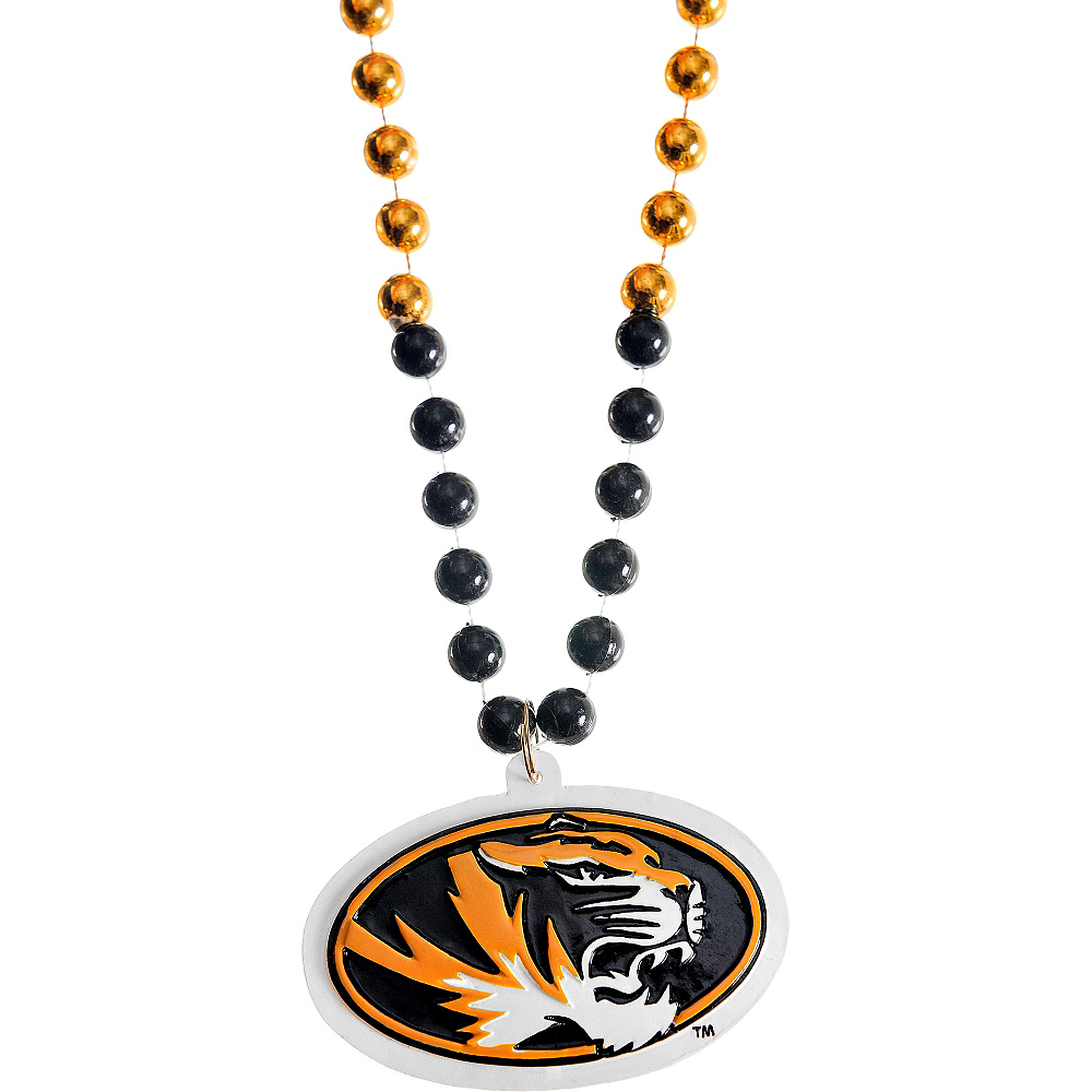 Nav Item for Missouri Tigers Pendant Bead Necklace Image #1