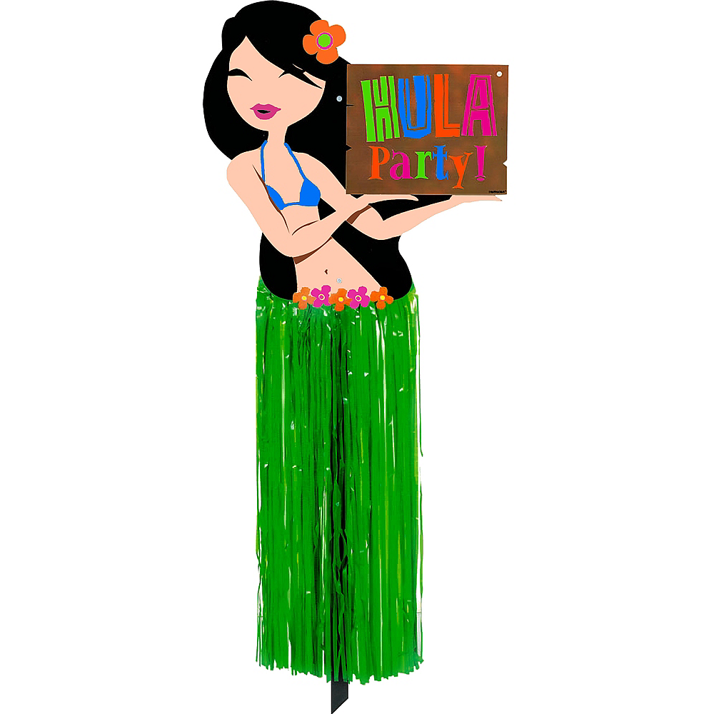 Hula Girl Yard Sign Image #1
