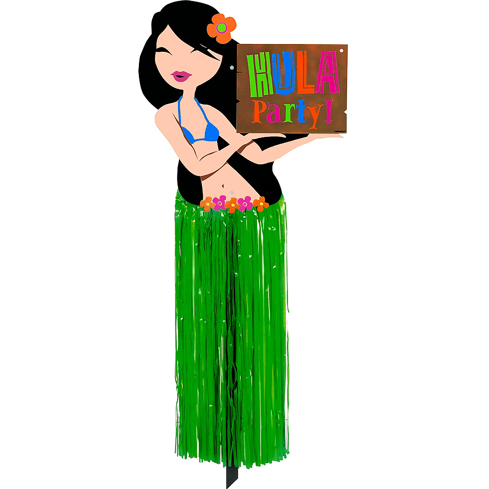 Hula Girl Yard Sign Image #2