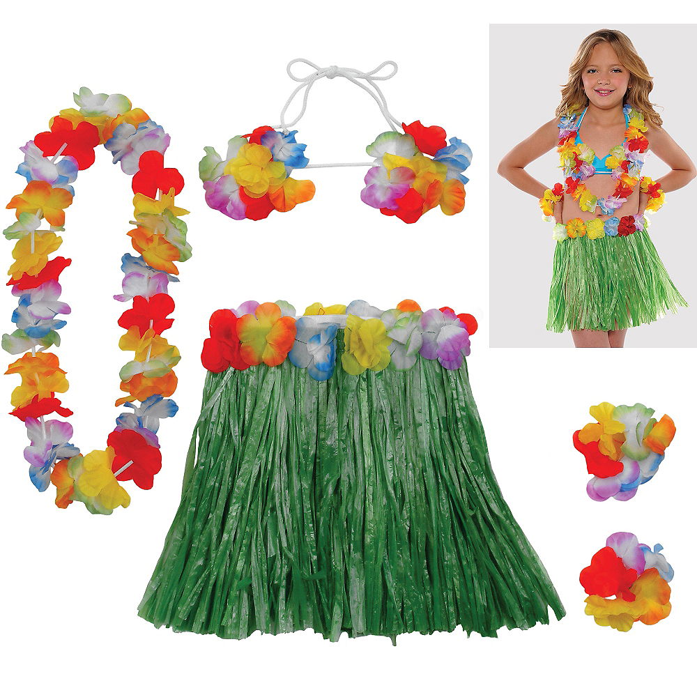 Child Hula Skirt Kit 5pc Image #1