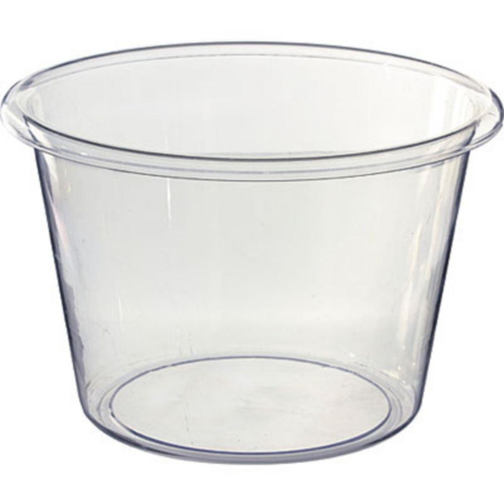 CLEAR Jumbo Plastic Ice Bucket Image #1