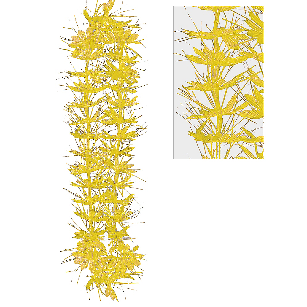 Yellow Tinsel Lei Image #1