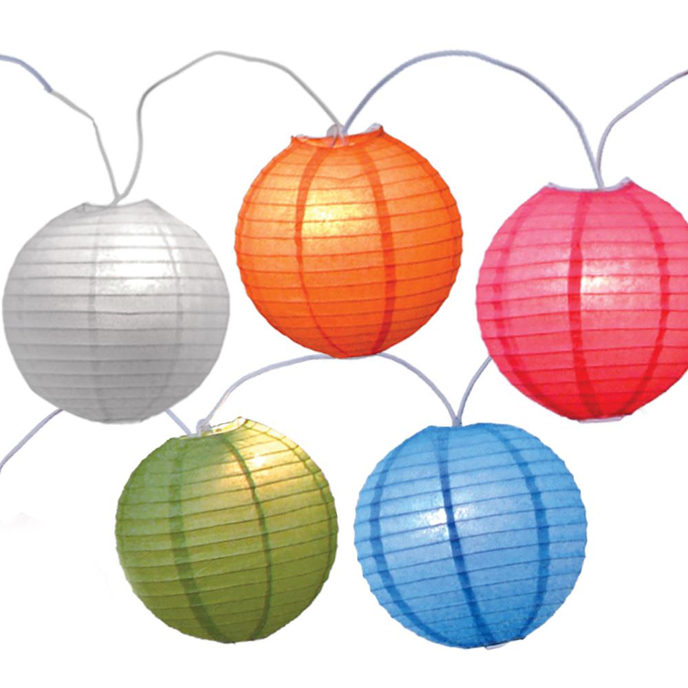 Large Round Lantern Lights Image #1