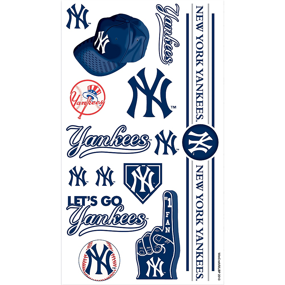 Nav Item for New York Yankees Tattoos 10ct Image #1