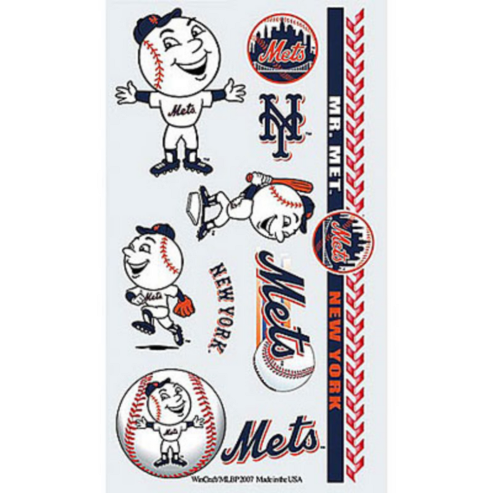 New York Mets Tattoos 10ct Image #1