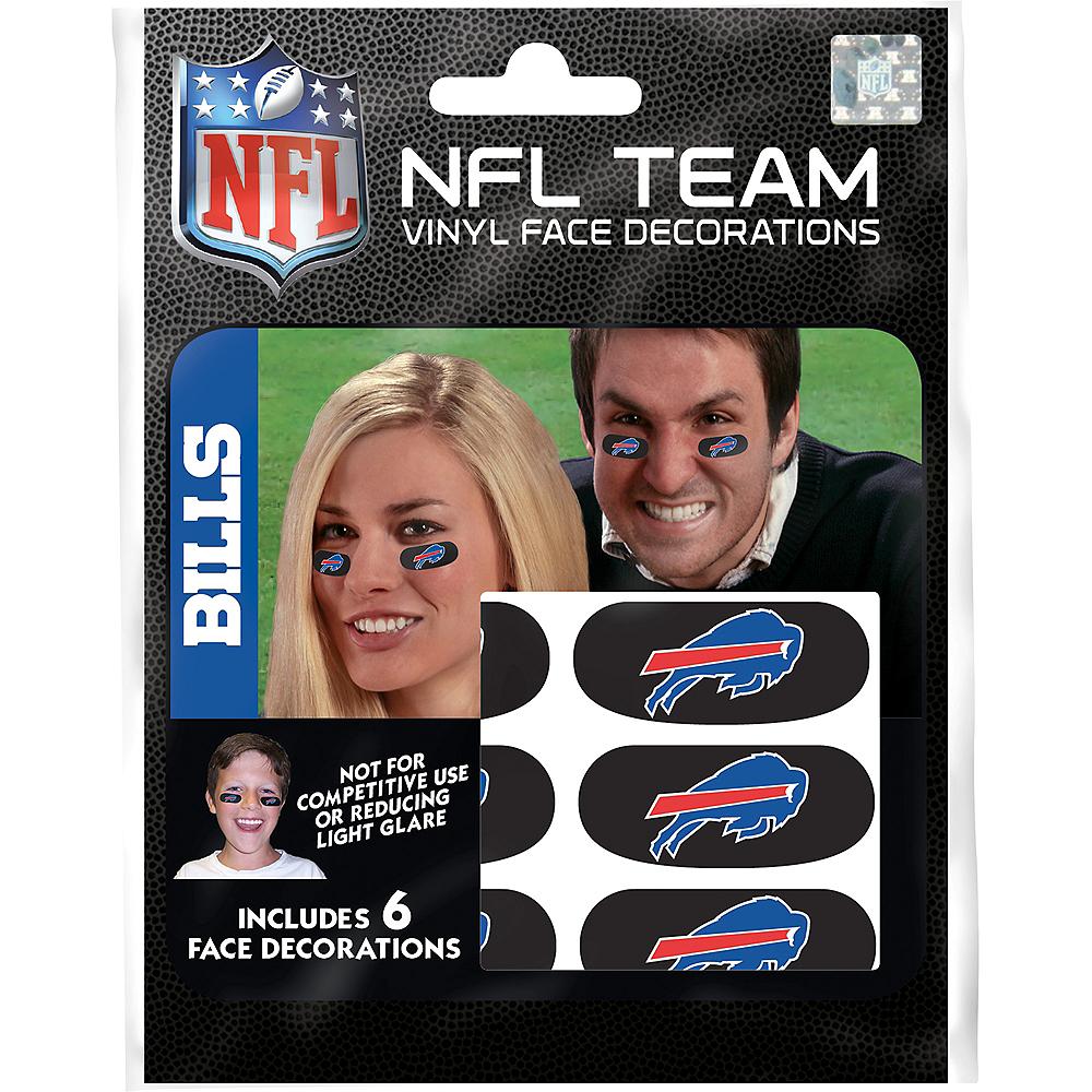 Buffalo Bills Eye Black Stickers 6ct Image #3