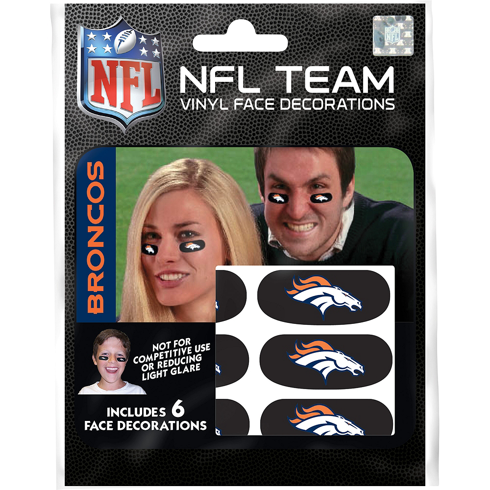 Denver Broncos Eye Black Stickers 6ct Image #1