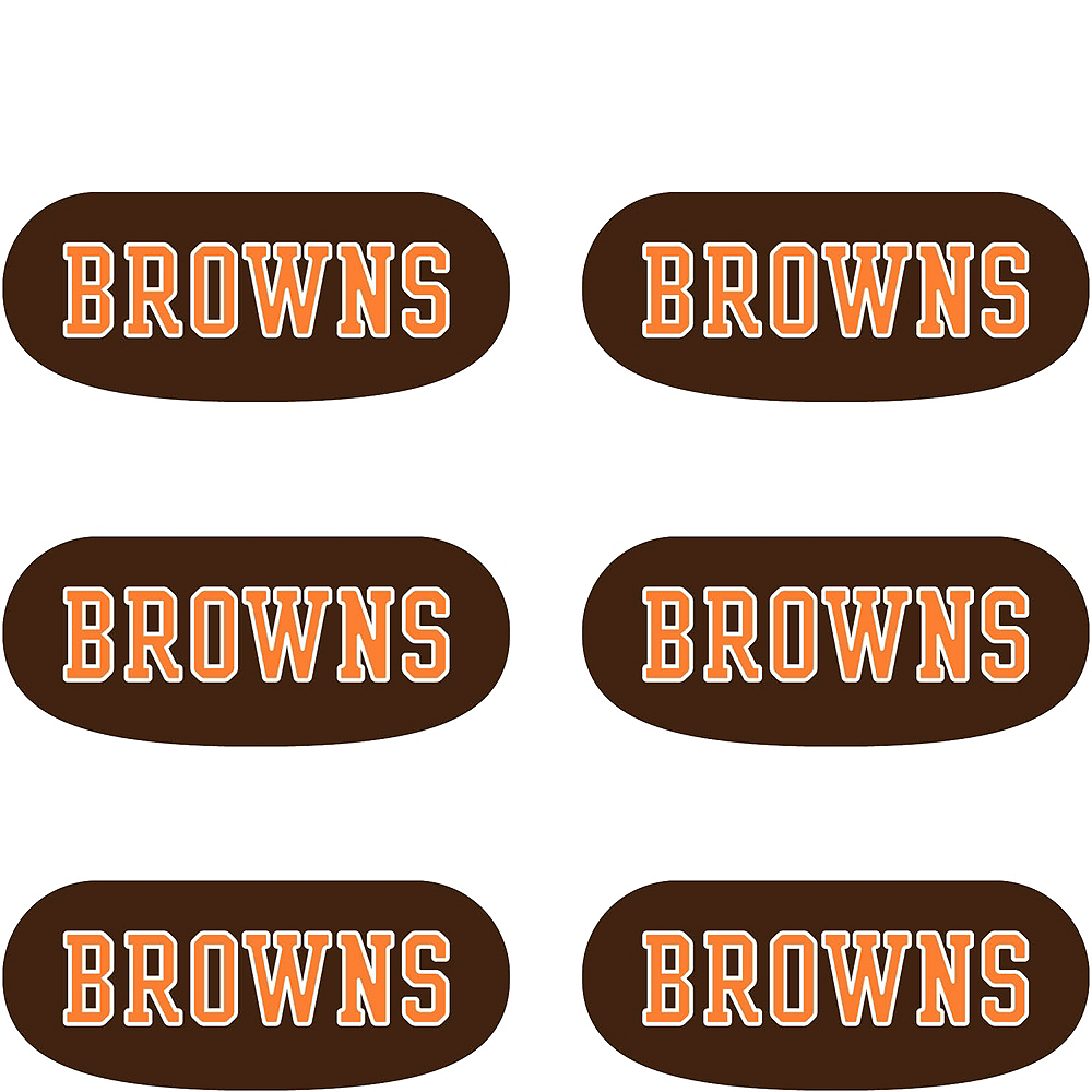 Cleveland Browns Eye Black Stickers 6ct Image #2