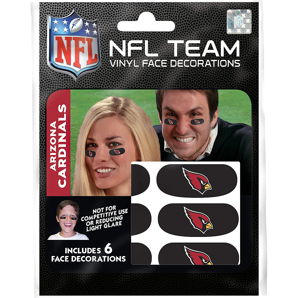 Arizona Cardinals Eye Black Stickers 6ct Image #3