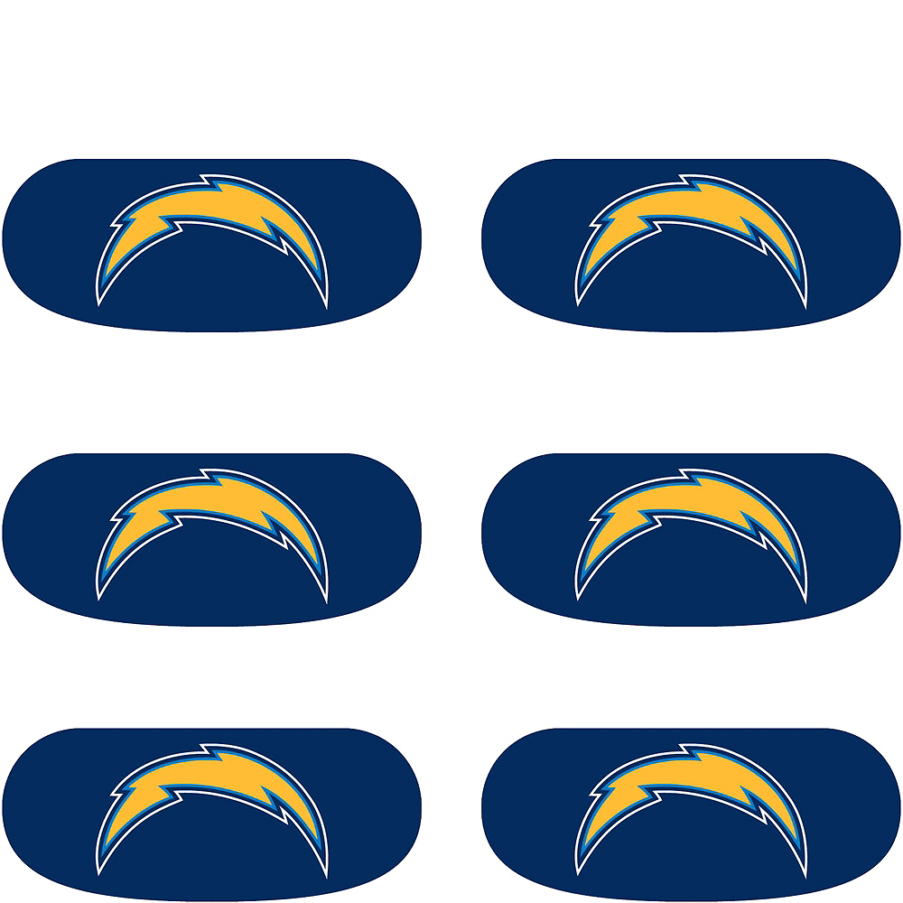 Los Angeles Chargers Eye Black Stickers 6ct Image #2