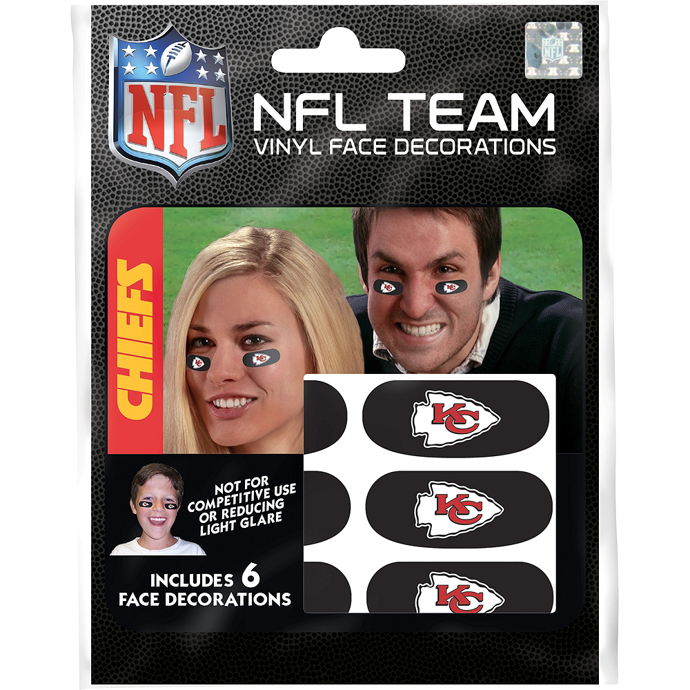 Kansas City Chiefs Eye Black Stickers 6ct Image #1