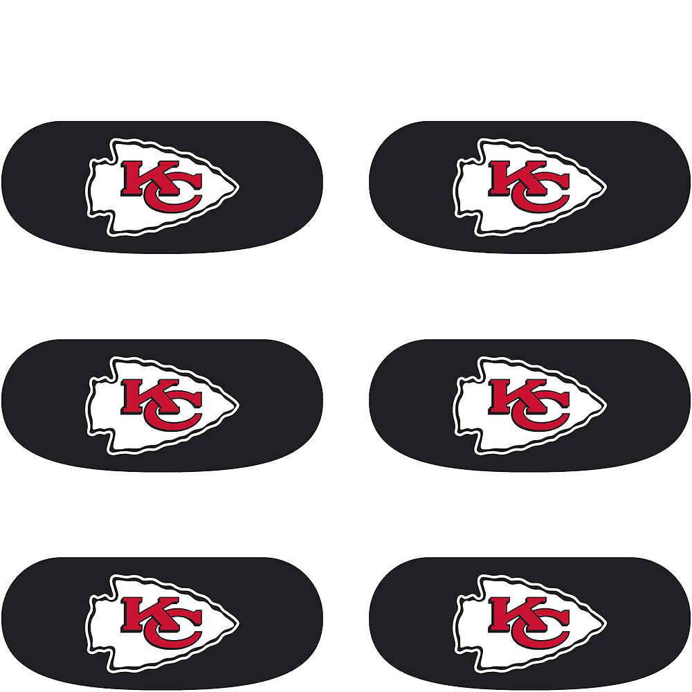Kansas City Chiefs Eye Black Stickers 6ct Image #2