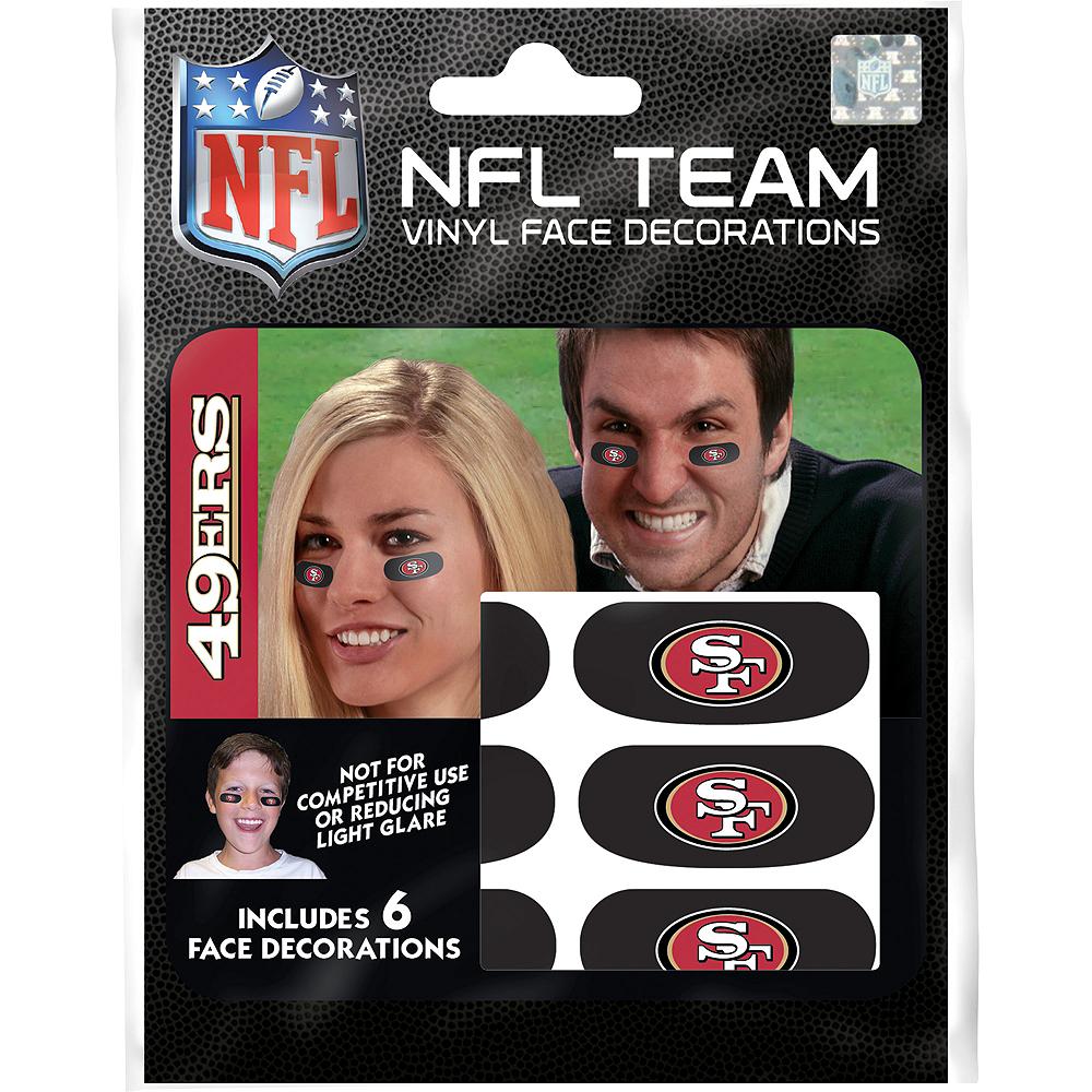 San Francisco 49ers Eye Black Stickers 6ct Image #1
