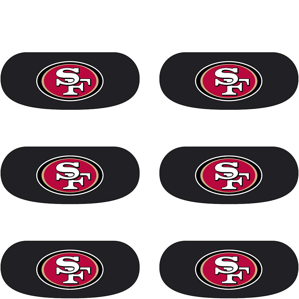 San Francisco 49ers Eye Black Stickers 6ct Image #2