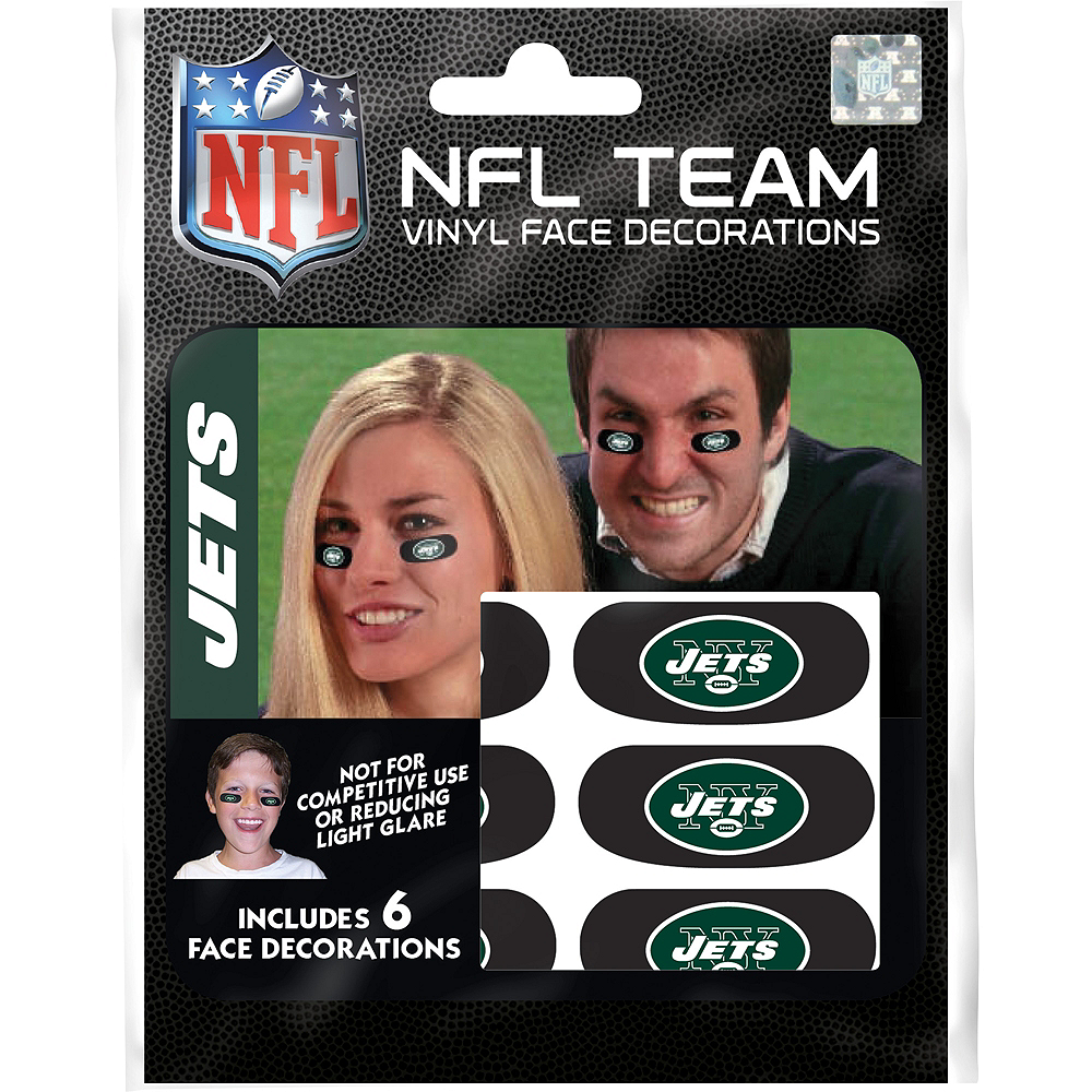 New York Jets Eye Black Stickers 6ct Image #1