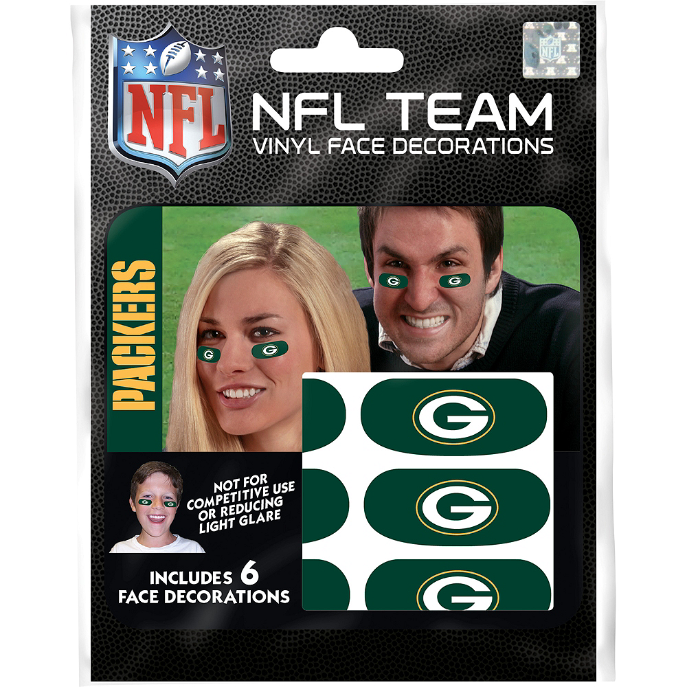 Green Bay Packers Eye Black Stickers 6ct Image #1