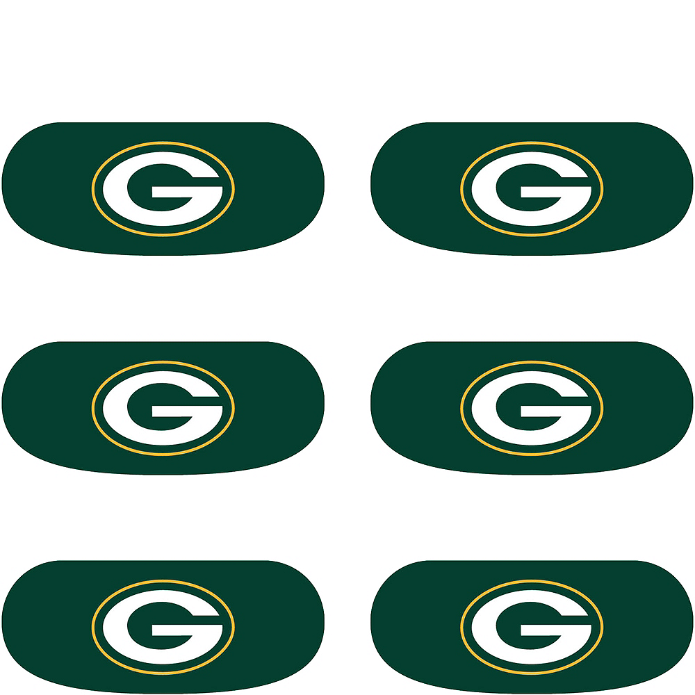 Green Bay Packers Eye Black Stickers 6ct Image #2