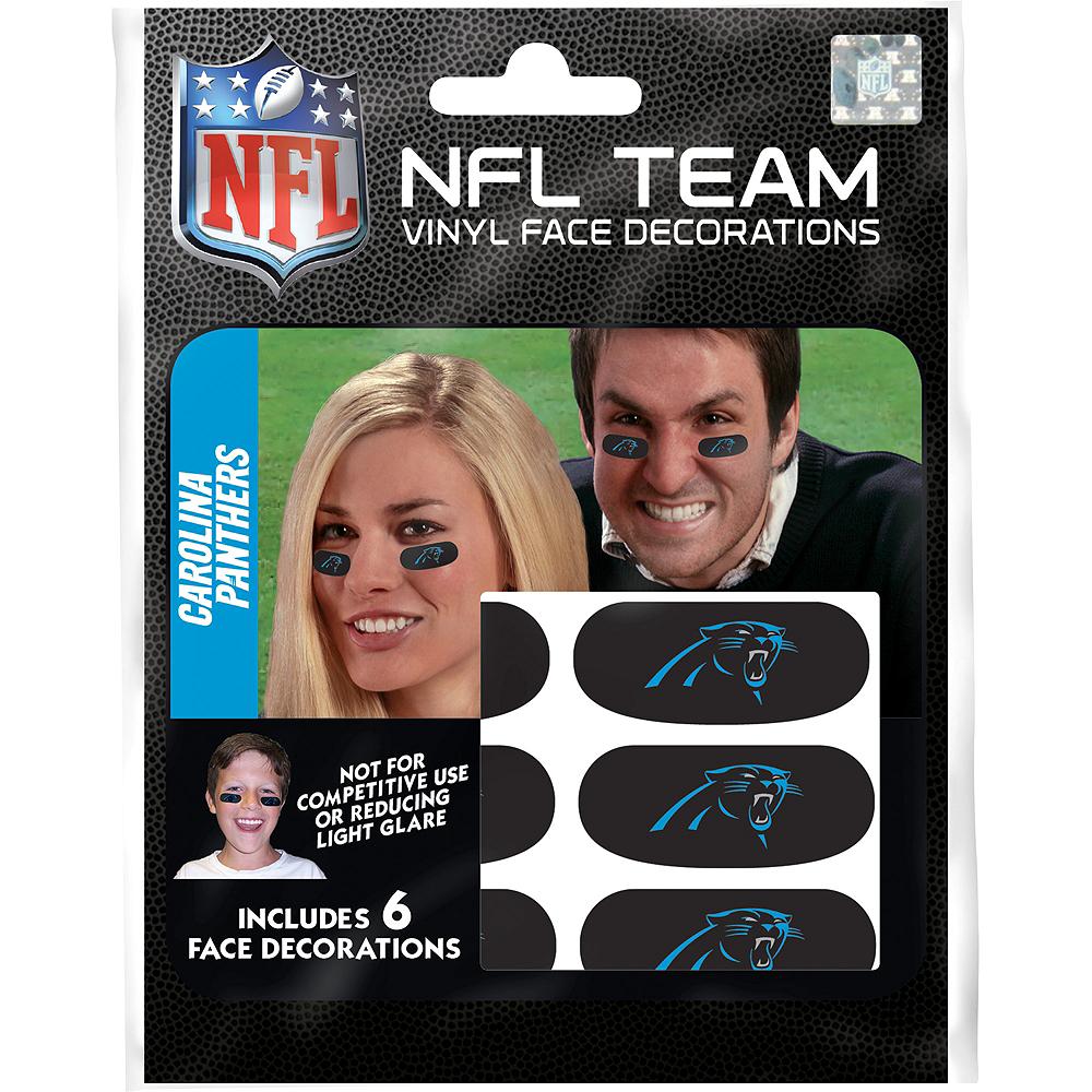 Carolina Panthers Eye Black Stickers 6ct Image #1