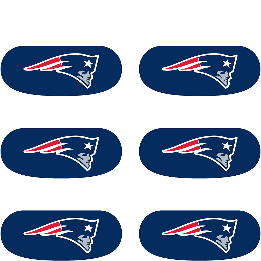 New England Patriots Eye Black Stickers 6ct Image #2