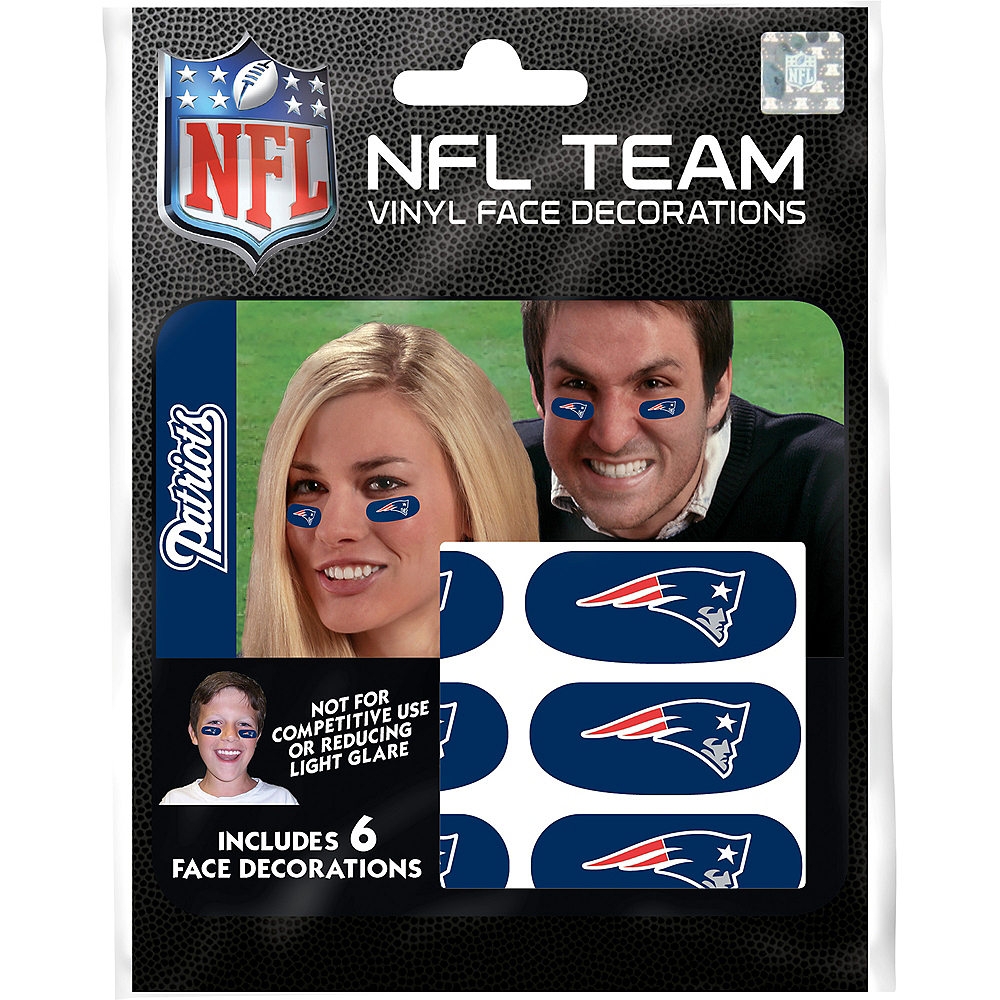 New England Patriots Eye Black Stickers 6ct Image #3