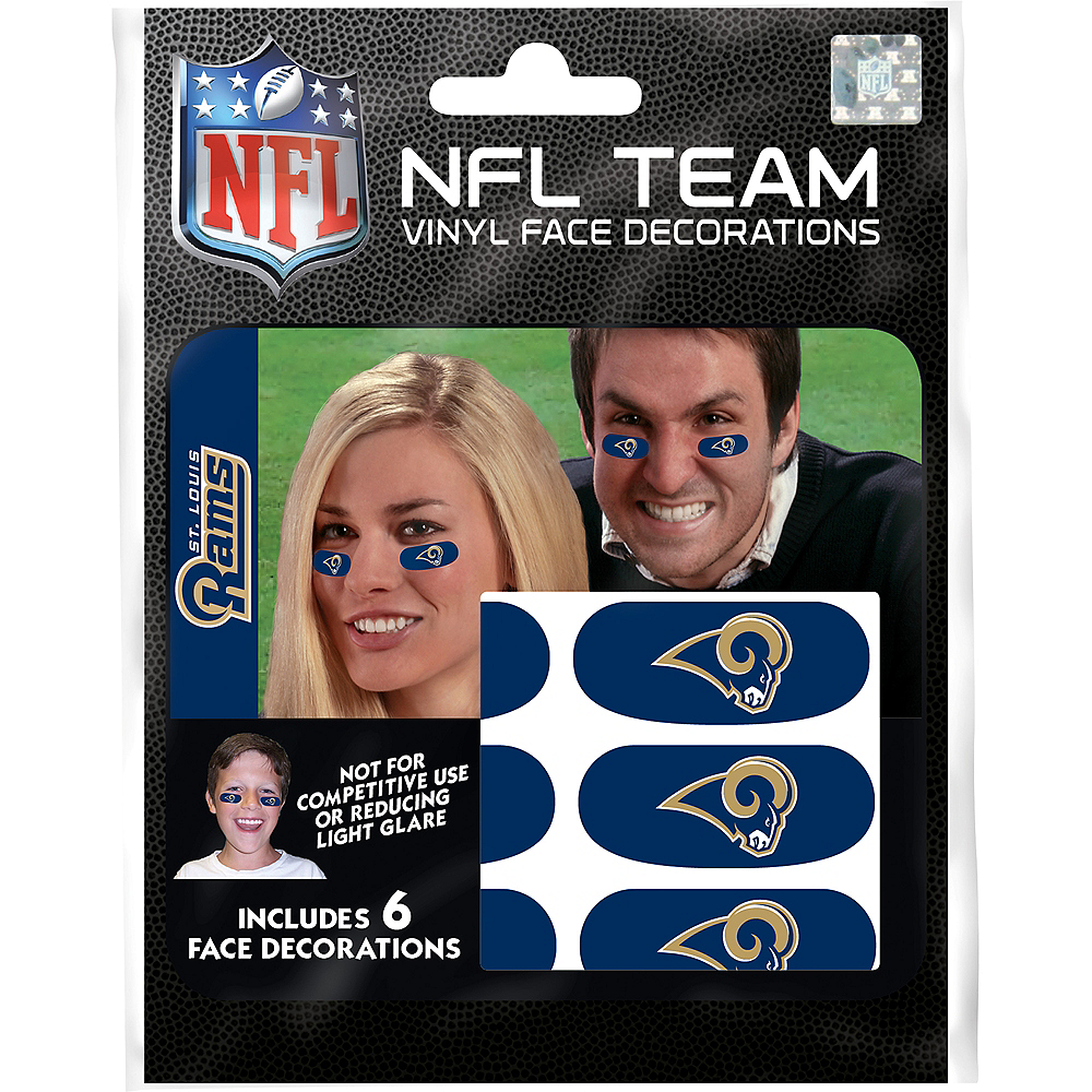 Los Angeles Rams Eye Black Stickers 6ct Image #3