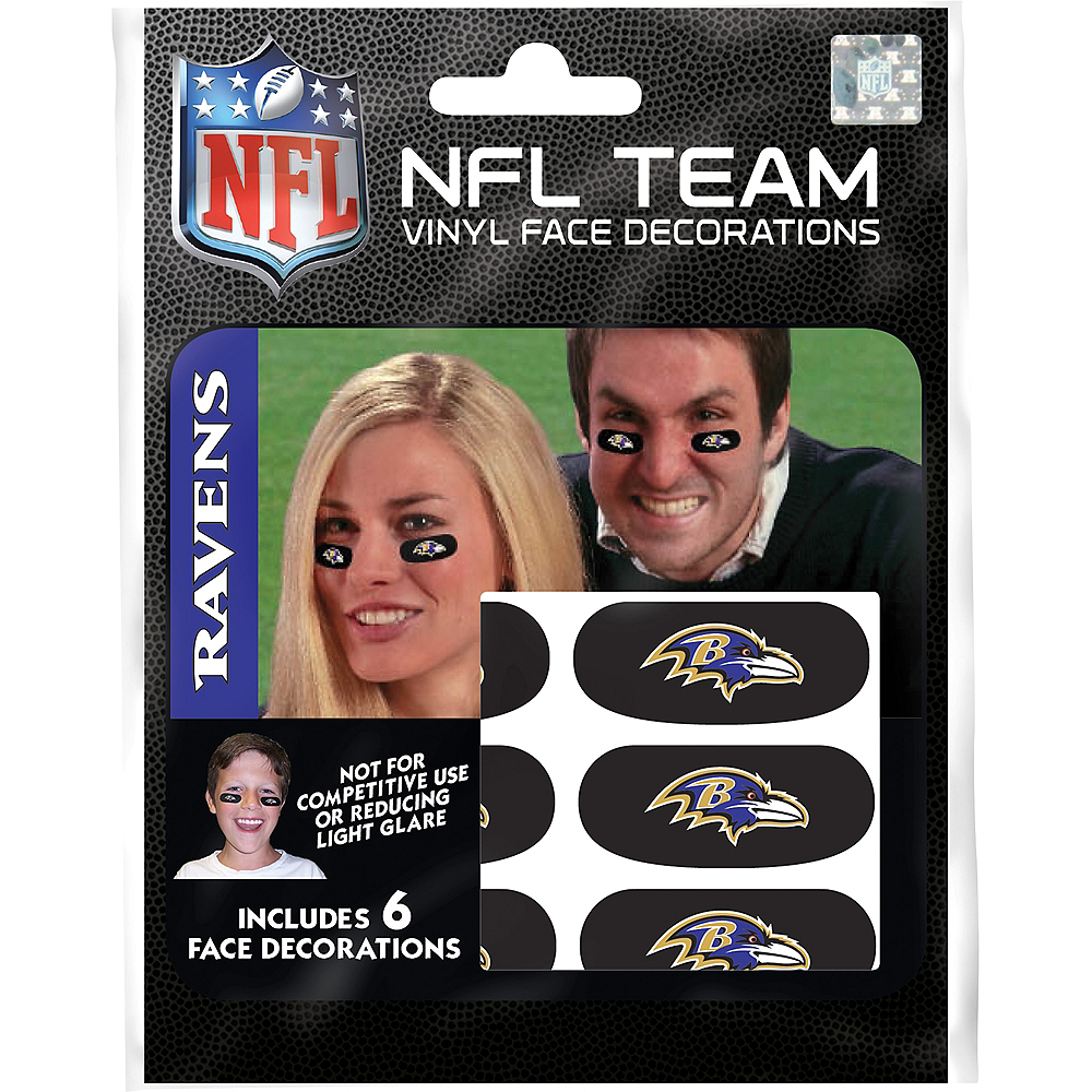 Baltimore Ravens Eye Black Stickers 6ct Image #3