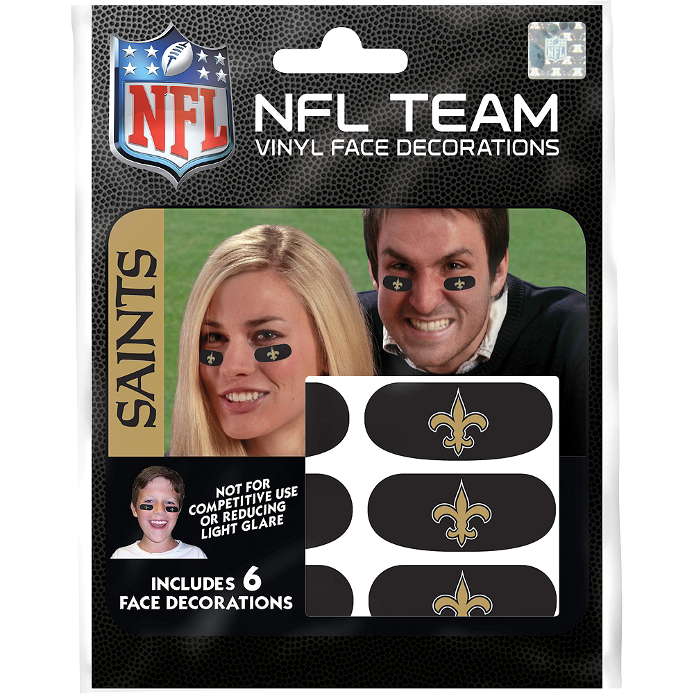 New Orleans Saints Eye Black Stickers 6ct Image #1