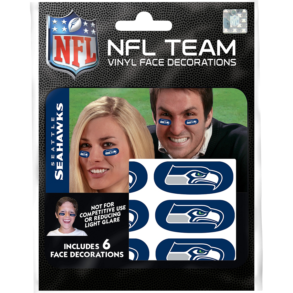 Seattle Seahawks Eye Black Stickers 6ct Image #1