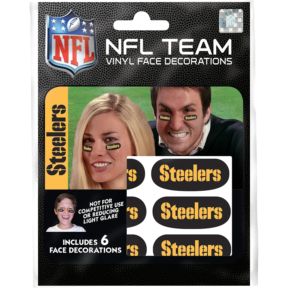 Nav Item for Pittsburgh Steelers Eye Black Stickers 6ct Image #1