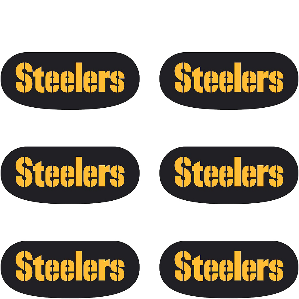 Pittsburgh Steelers Eye Black Stickers 6ct Image #2