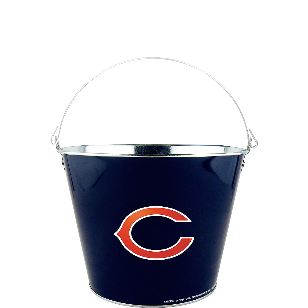Chicago Bears Galvanized Bucket Image #1