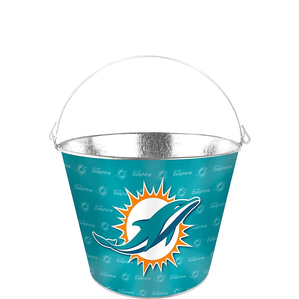 Miami Dolphins Galvanized Bucket Image #1