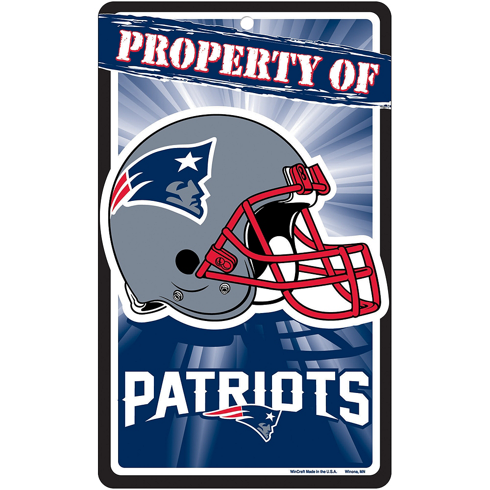 Property of New England Patriots Sign Image #1