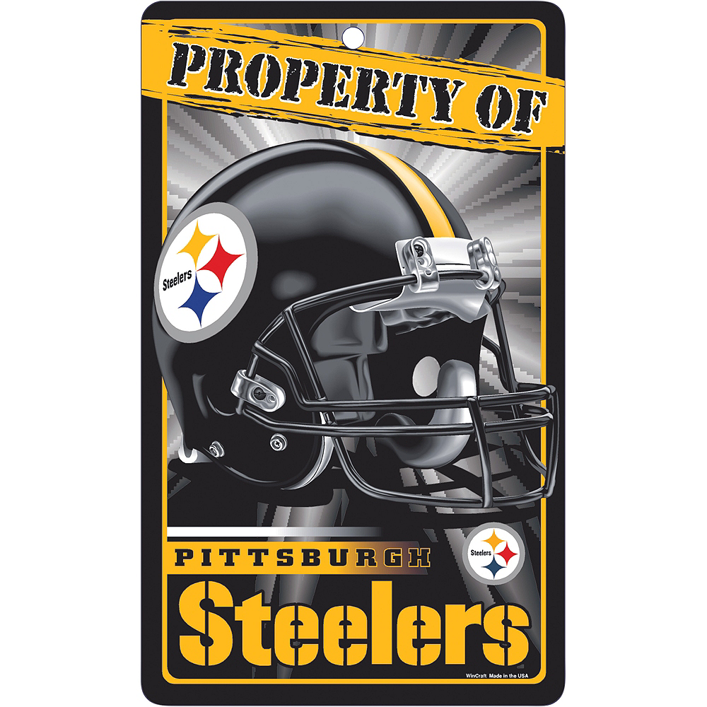 Property of Pittsburgh Steelers Sign Image #1