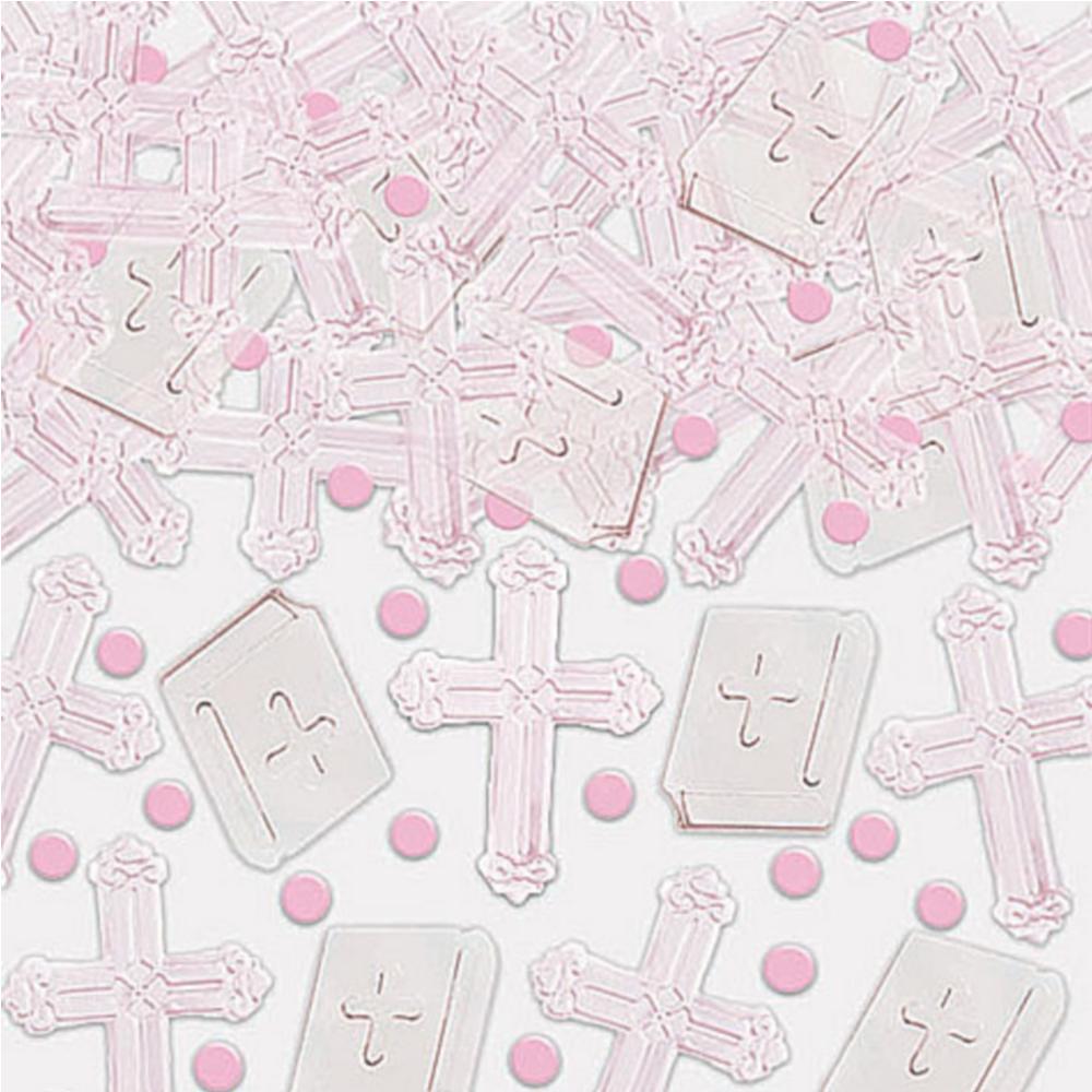 Pink Cross Religious Confetti Image #1