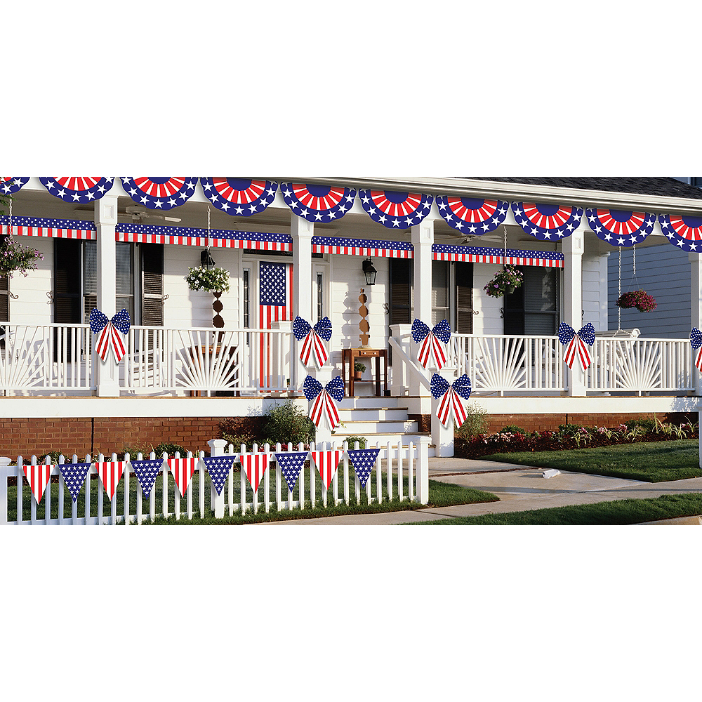 Patriotic American Flag Outdoor Decorating Kit 12pc Image #2