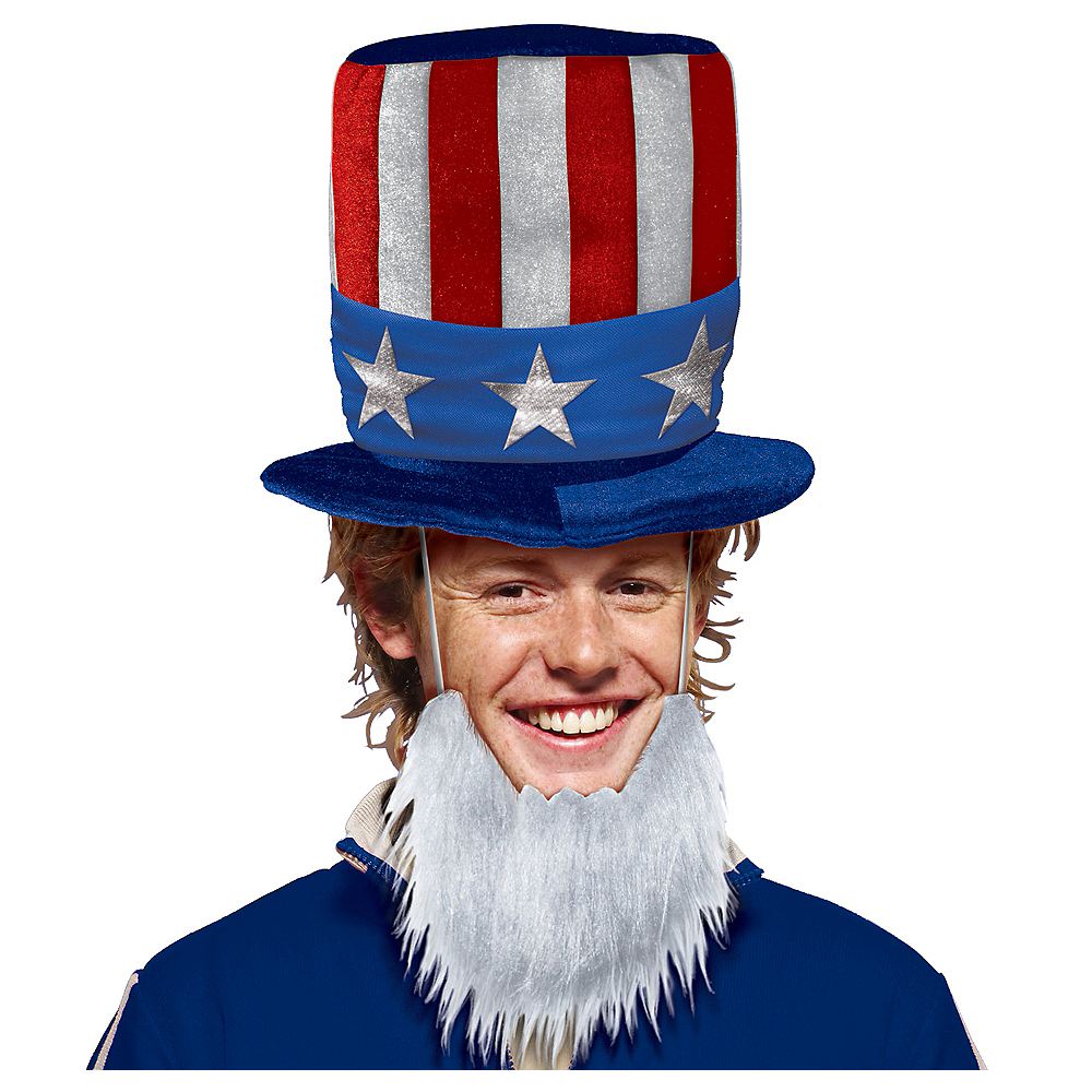 Uncle Sam Hat with Beard Image #1