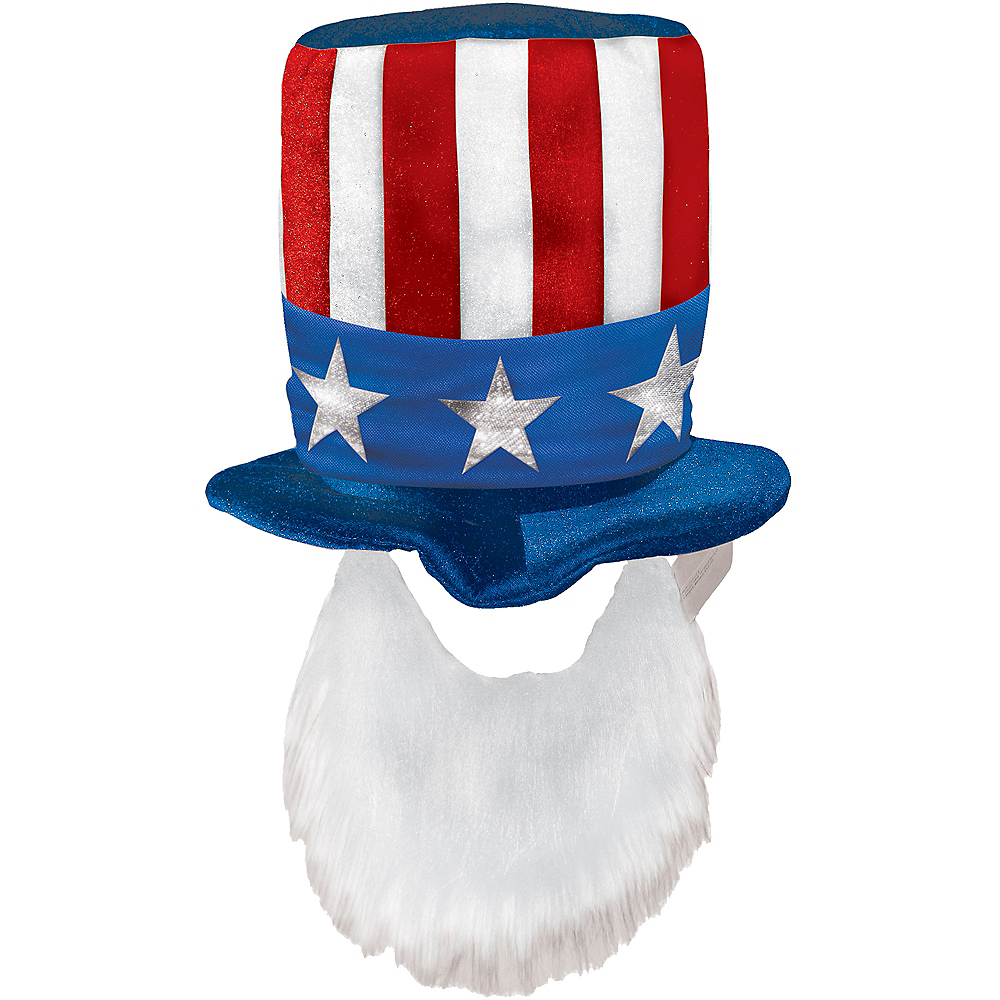 Uncle Sam Hat with Beard Image #2