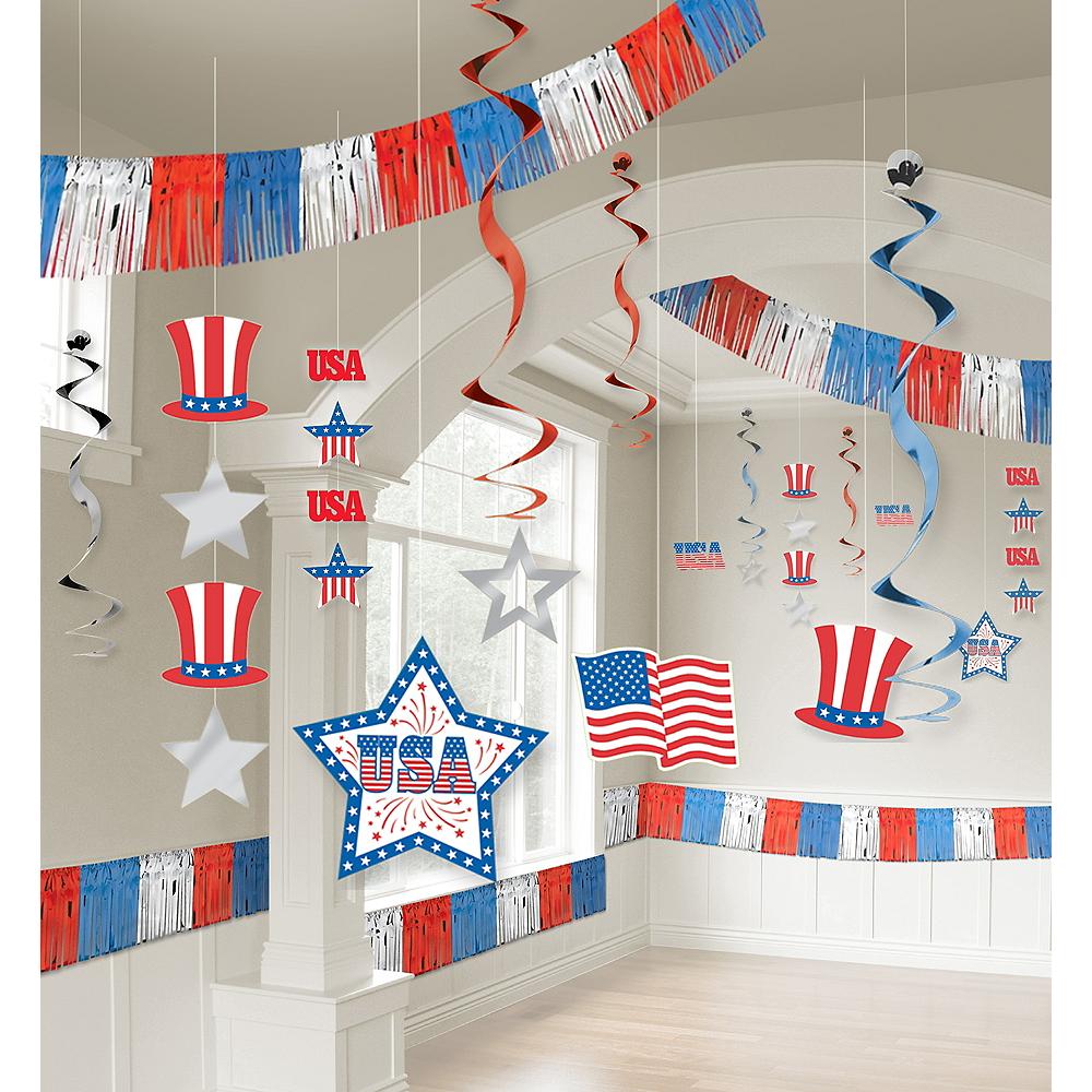Patriotic Room Decorating Kit 21pc Image #1