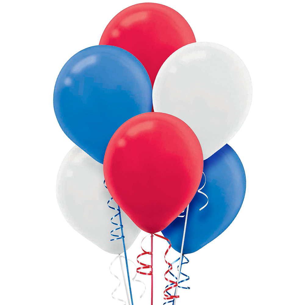 Red, White & Blue Balloons 72ct Image #1