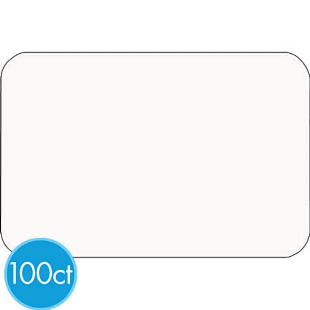 White Name Badges 100ct Image #1