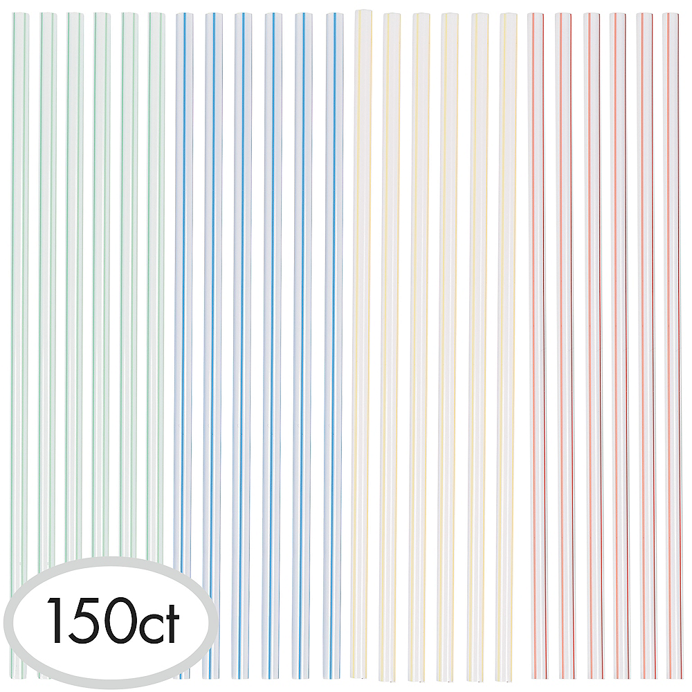 Plastic Straw Stirrers 150ct Image #1