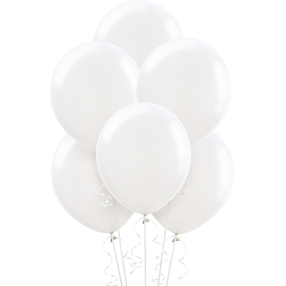 Nav Item for White Balloons 72ct Image #1