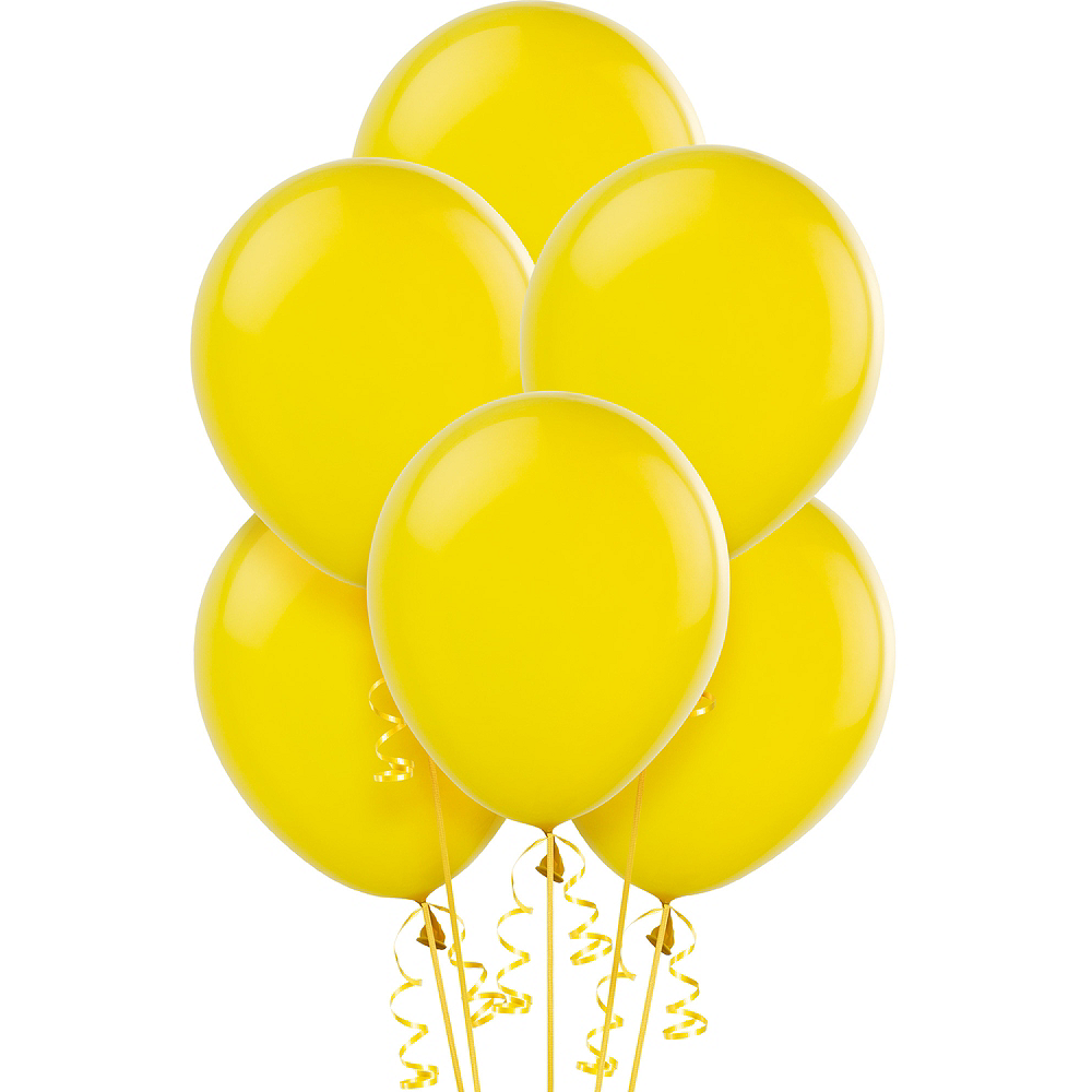Sunshine Yellow Balloons 72ct, 12in Image #1