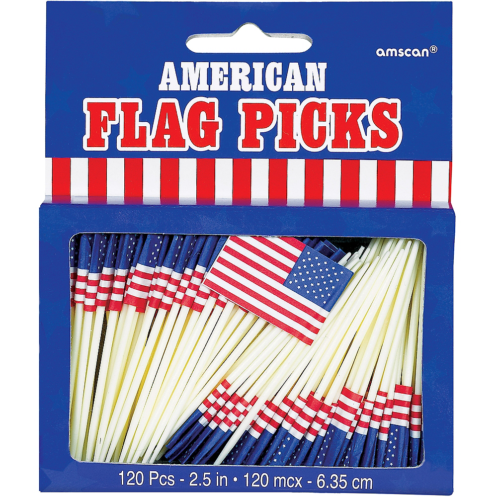 American Flag Picks 120ct Image #3