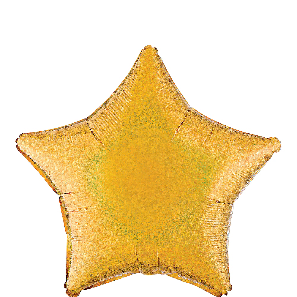 Gold Star Balloon - Prismatic, 19in Image #1