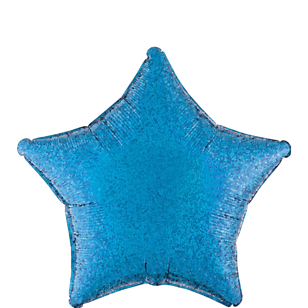 Blue Star Balloon - Prismatic, 19in Image #1