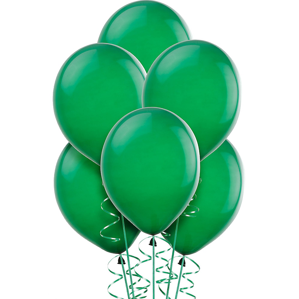 Festive Green Balloons 15ct Image #1